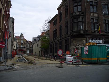 Schaerbeek chantier rue Verwée